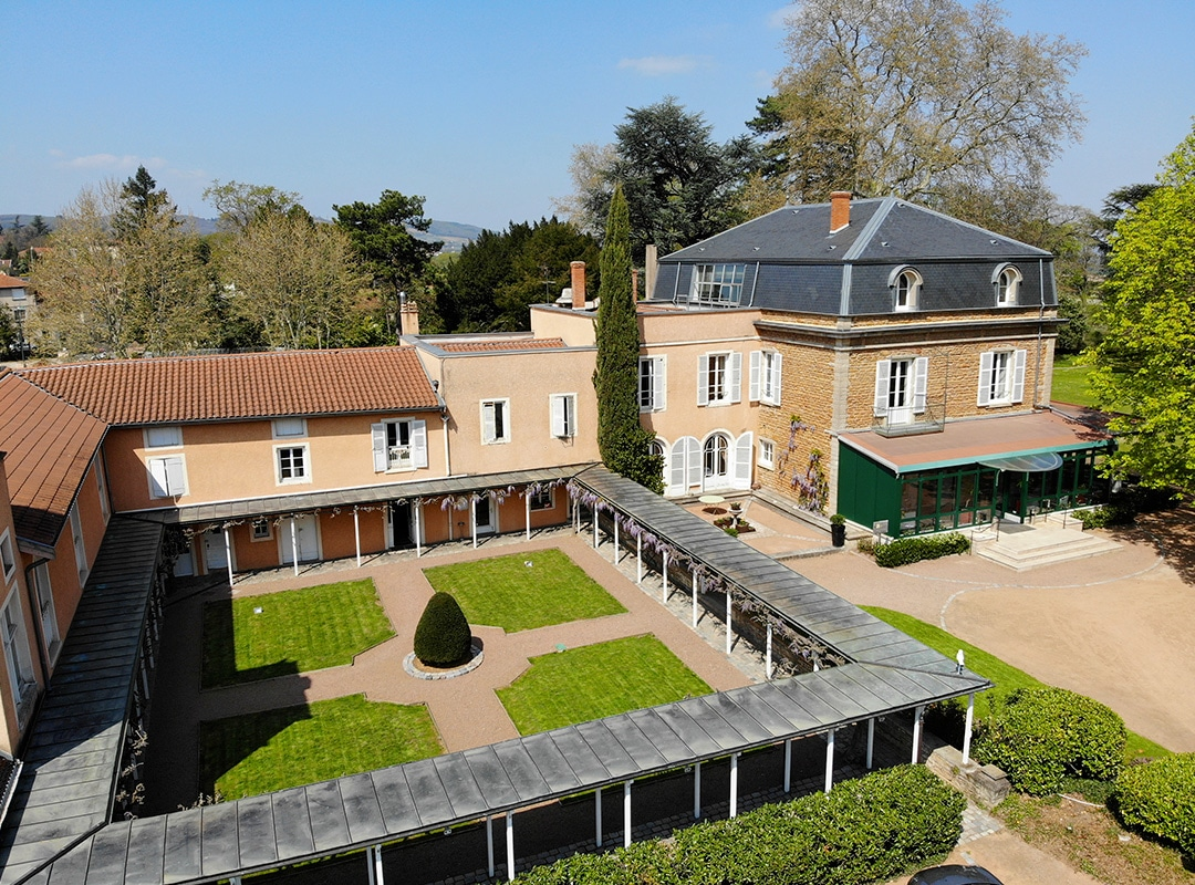 Vue Drone Jardin Clos Des Varennes